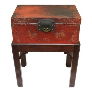 Chinese Export Pigskin Box For Sale