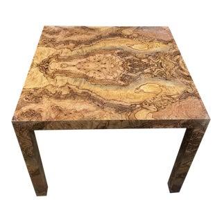 Mid Century Milo Baughman Style Burlwood Table
