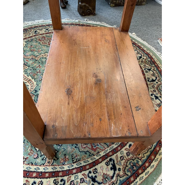 Early 20th Century Antique Rustic Pine Two-Tier Side Table For Sale - Image 5 of 9