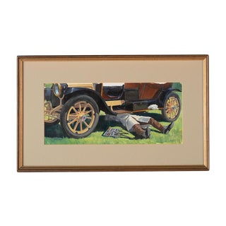 """Robert Levin """"1930s Roadster"""" Oil Painting For Sale"""