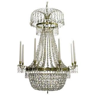 Empire 8 Polished Brass Octagon Chandelier