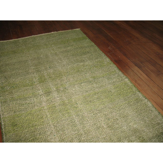 Islamic Green Over-dye Turkish Runner For Sale - Image 3 of 5