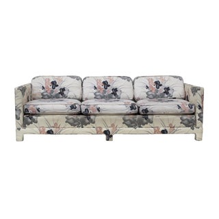 Custom Floral Parsons Sofa For Sale