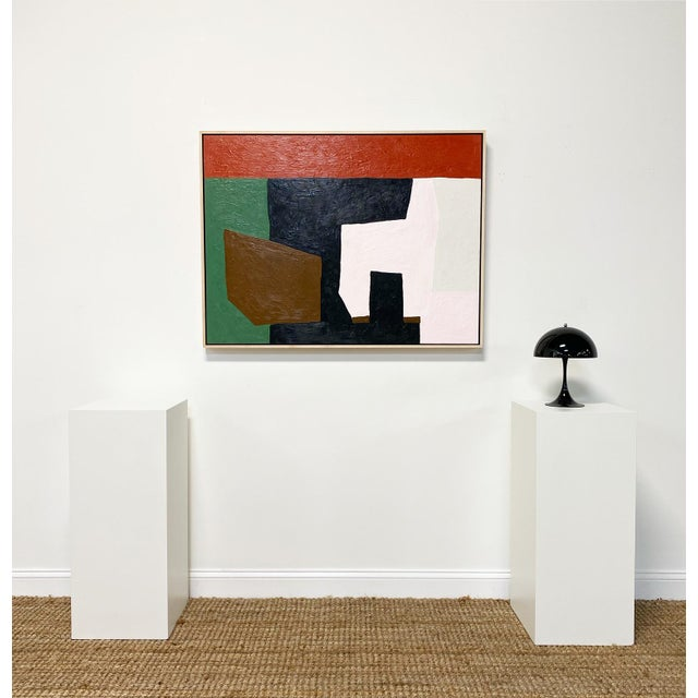 "Abstract Exclusive John O'Hara ""The Living Room"" Encaustic Painting For Sale - Image 3 of 9"