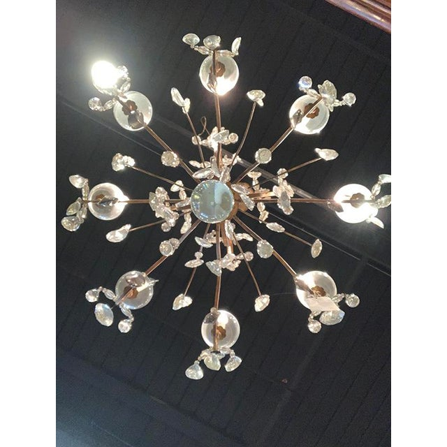 1920s French Baques Crystal Chandelier For Sale - Image 5 of 8