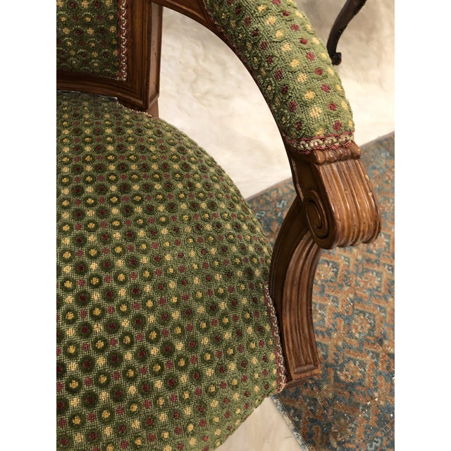 Brunschwig & Fils French Carved Chair (Upholstery Like New) For Sale In Atlanta - Image 6 of 7