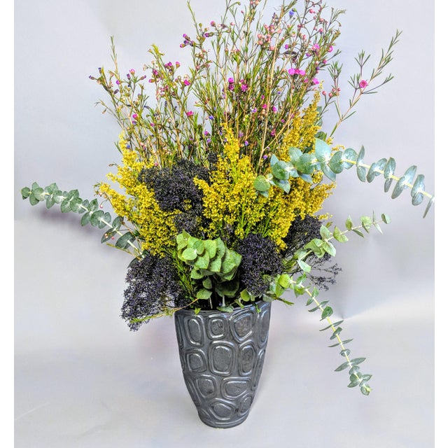 Jonathan Adler Windowpane Brutalist Vase For Sale In Providence - Image 6 of 12