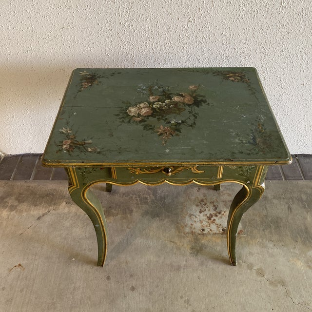 19th Century Hand Painted Side Table For Sale - Image 9 of 9