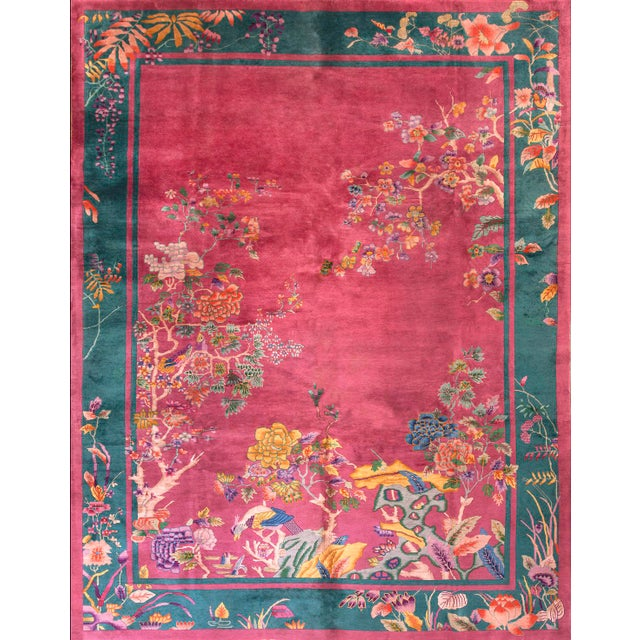 Antique Chinese Art Deco Rug For Sale In New York - Image 6 of 6