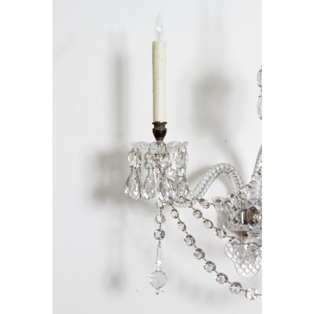 Bronze Exceptional Set of 4 Cut-Glass Wall Lights by F. & C. Osler of Birmingham For Sale - Image 7 of 11