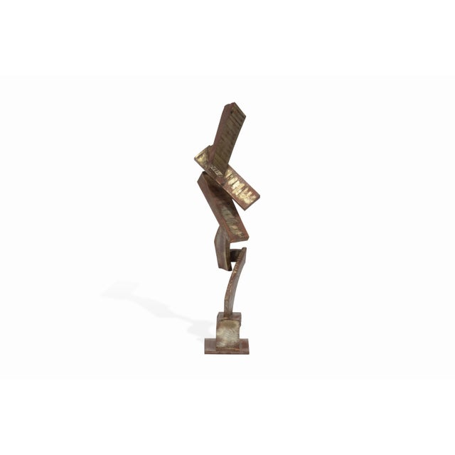 Mid-Century Modern Vintage Mid-Century Brutalist Metal Sculpture by Peter Calaboyias For Sale - Image 3 of 13