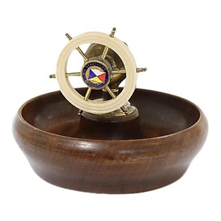 Mid-Century Souvenir Nut Bowl W/ Cracker For Sale