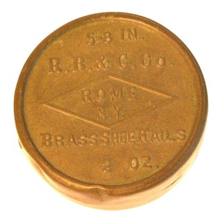 Vintage R.B. & Co. Brass Shoe Nails