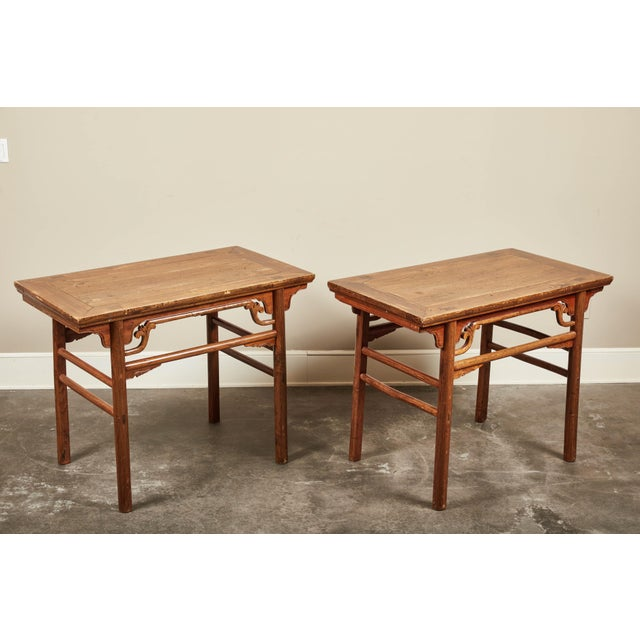 Late 19th C. Chinese Side Tables - a Pair For Sale - Image 9 of 9