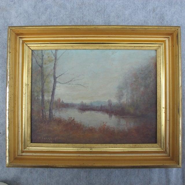 Vintage Impressionist Oil Painting 1936 - Image 2 of 6