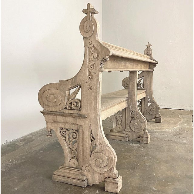 19th Century Gothic Revival Church Pew, Bench For Sale - Image 12 of 13