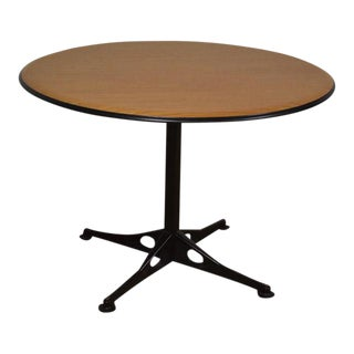 "42"" Round Herman Miller Oak Dining Table Eames Aluminum Group"