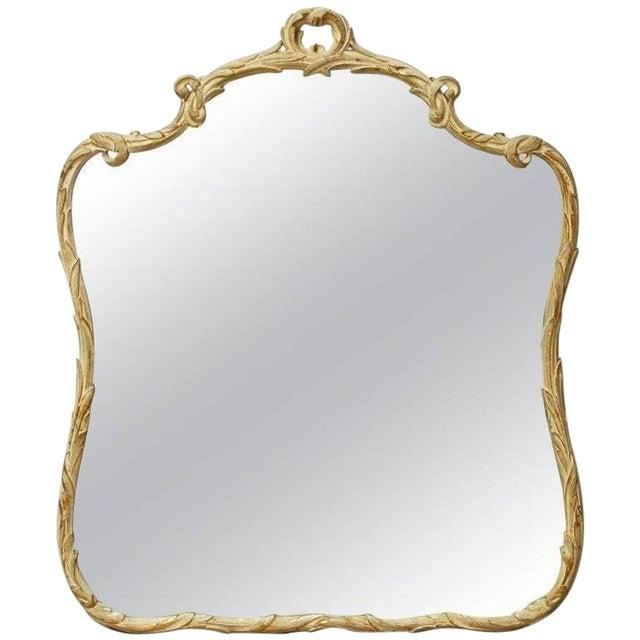 Italian Rococo Style Painted Gilt wood Foliate Mirror For Sale