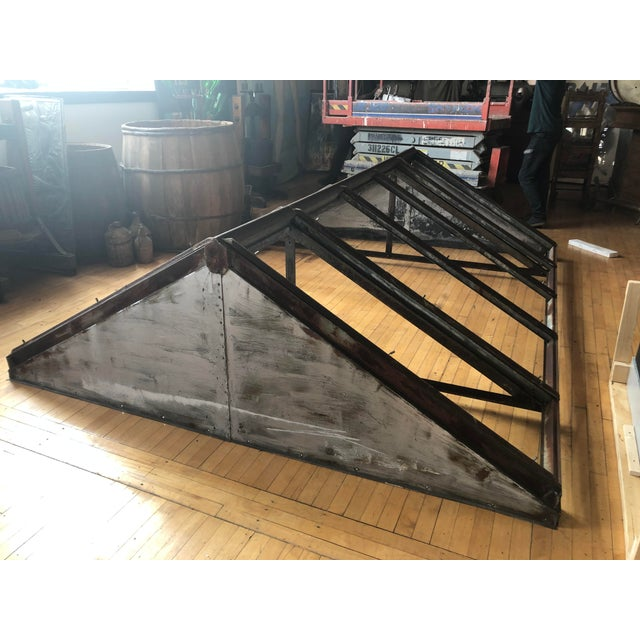 1920s Antique Metal Skylight For Sale - Image 5 of 7