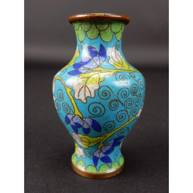 Antique Chinese Cloisonne Temple Vase For Sale - Image 5 of 11