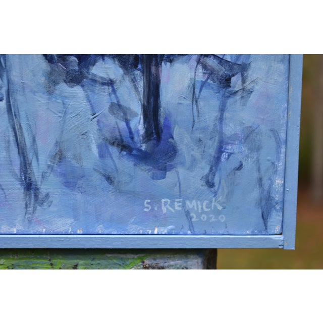 """""""Snowy Intersection at Dawn"""" Contemporary Acrylic Painting by Stephen Remick, Framed For Sale - Image 9 of 12"""