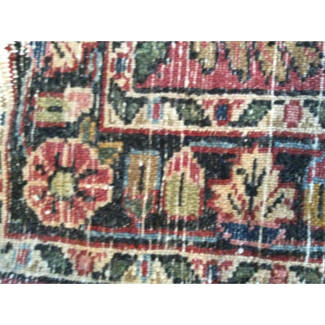 Antique Persian Purple/Red Wool Entry Size Area Rug - 2′ × 2′9″ For Sale - Image 4 of 5