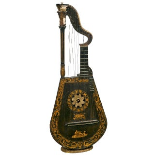 19th Century Edward Light Harp Lute