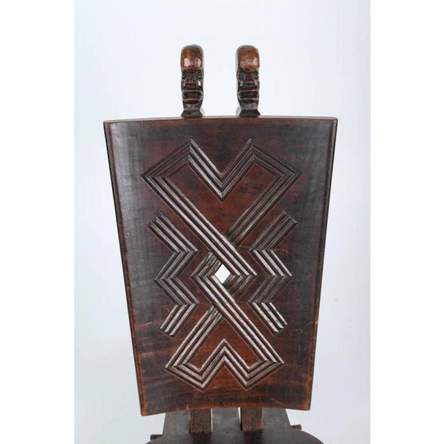 Mid 20th Century African Tribal Baluba Chief's Chair From Katanga For Sale - Image 5 of 8