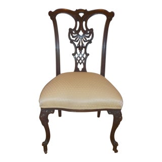 An American Louis XV Style Mahogany Dining/Salon Chair. For Sale
