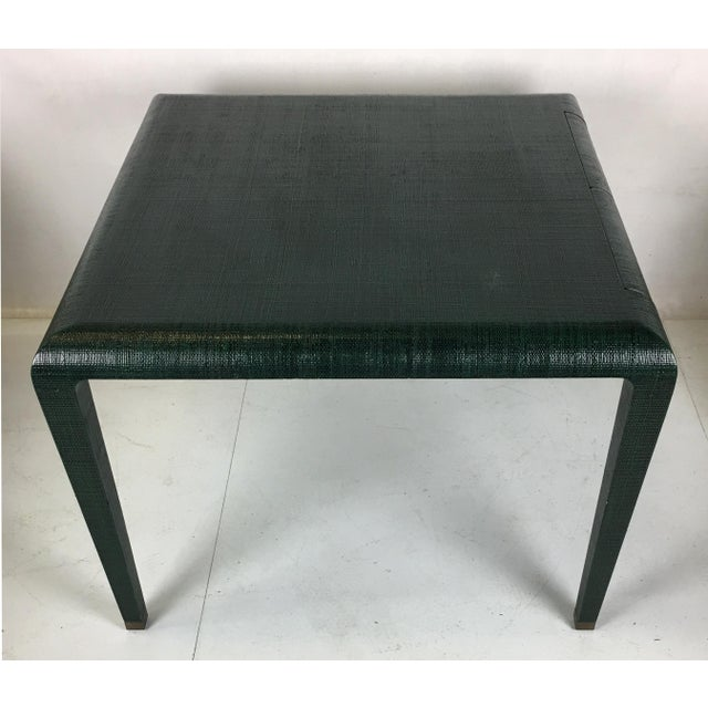 Exceptional Raffia Clad Games Table by Harrison Van Horn For Sale In San Francisco - Image 6 of 12