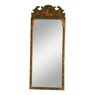 Friedman Brothers Green Chinoiserie Decorated Mirror