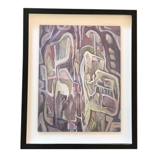 1950s Mid Century Modern Abstract Painting For Sale