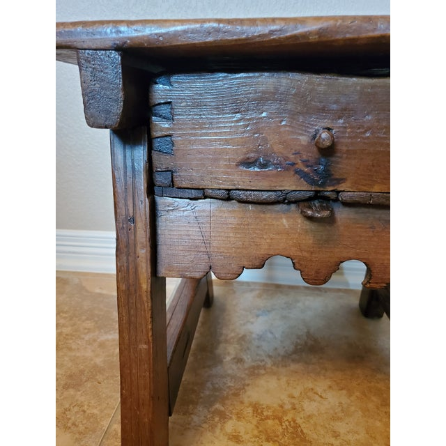 Early 18th Century Spanish Colonial Rustic Small Table For Sale - Image 11 of 12