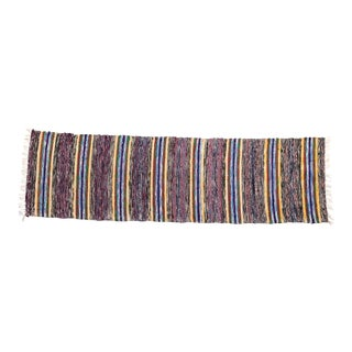 """Handwoven Reversible Vintage Swedish Rug by Scandinavian Made 103"""" x 26"""" For Sale"""