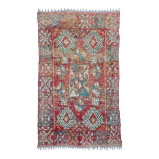 Vintage Terracotta Taznakht Rug For Sale