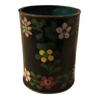 Chinese Cloisonné Toothpick Holder For Sale