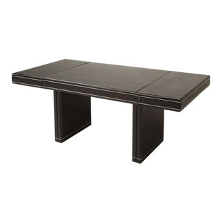 American Mid-Century Modern Lacquered Desk Dining Table For Sale