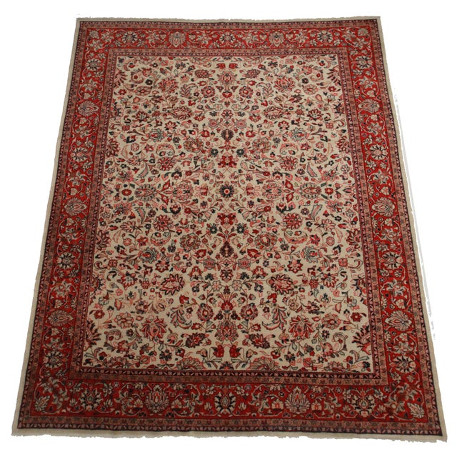 Hand-Knotted Persian Mahal Rug - 10′ × 14′ - Image 2 of 2