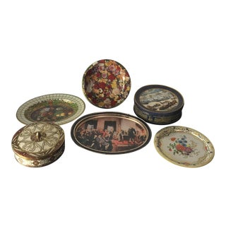 English Daher Tin Collection- Set of 6 For Sale