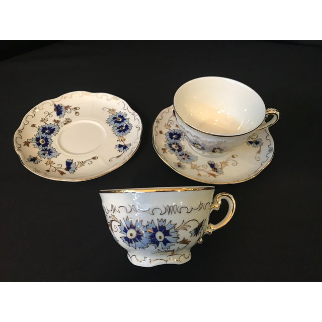 Traditional Vintage Zsolnay Hand Painted Porcelain Coffee Set of 15 For Sale - Image 3 of 7