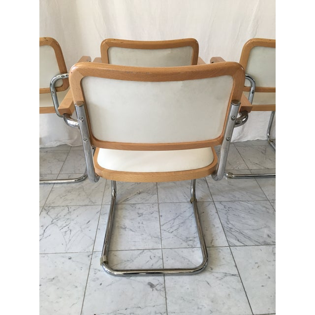 Italian Chrome Cantilever Chairs - Set of 4 For Sale - Image 9 of 10