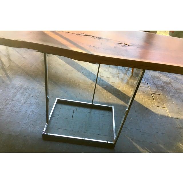 Live Edge Walnut Table Desk - Image 4 of 10