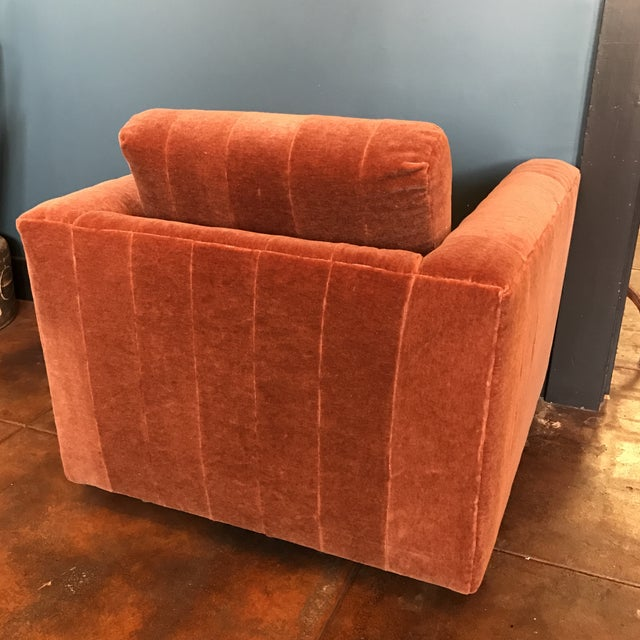 Contemporary Mohair Club Chair - Image 5 of 5