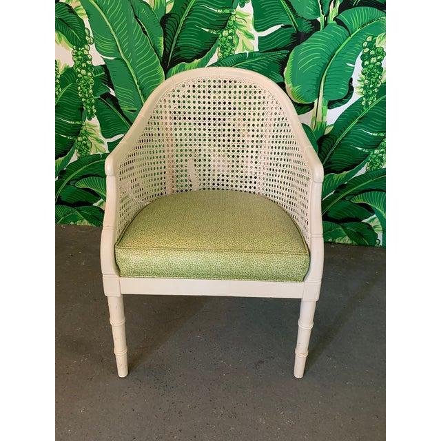Vintage Cane Back Barrel Chairs, Set of Four For Sale - Image 4 of 9