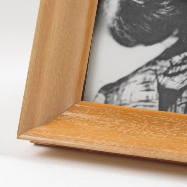 French Hollywood Regency Varnished Sycamore Picture Photo Frame - Image 4 of 5