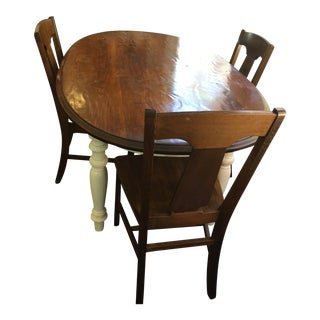Contemporary Scandinavian Dining Table and Chairs Set