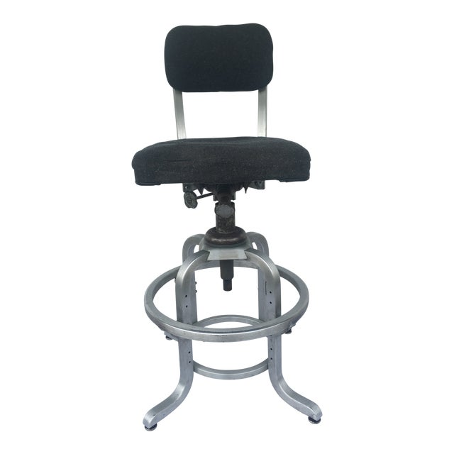 1960s Industrial Swivel Lab Stool For Sale