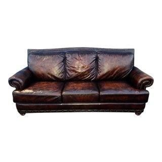 Cigar Brown Leather & Down Feather Filled Lawson Club Sofa