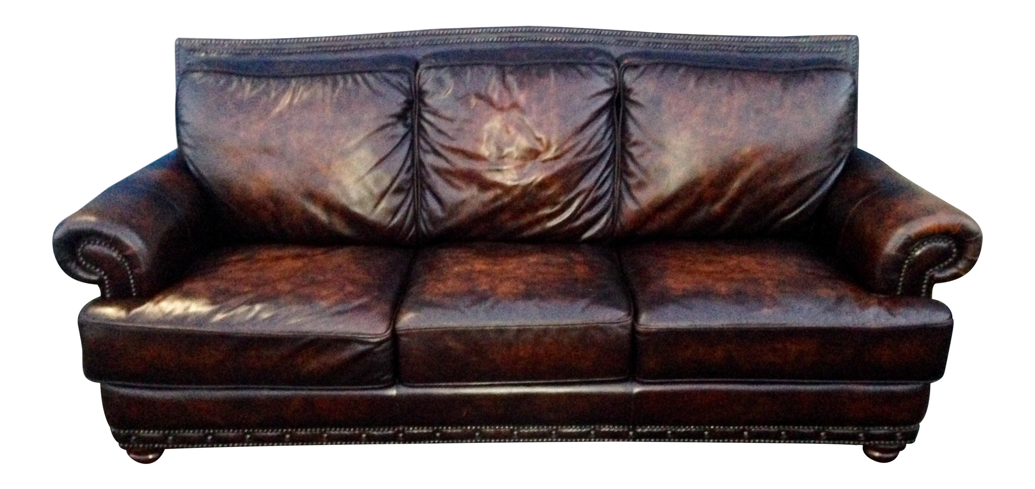 Cigar Brown Leather U0026 Down Feather Filled Lawson Club Sofa