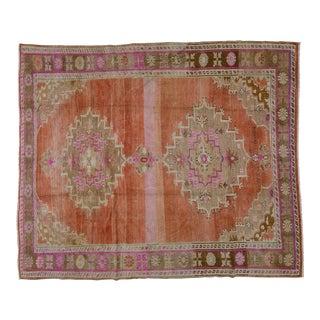 "Vintage Turkish Oushak Rug,8'x9'6"""